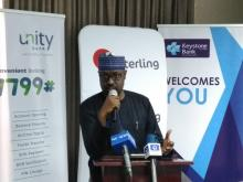 GM of MAP for NERC, Mr Abdulkadir Shettima giving a speech at the launching (Photo Credit: @mz_jummeT)