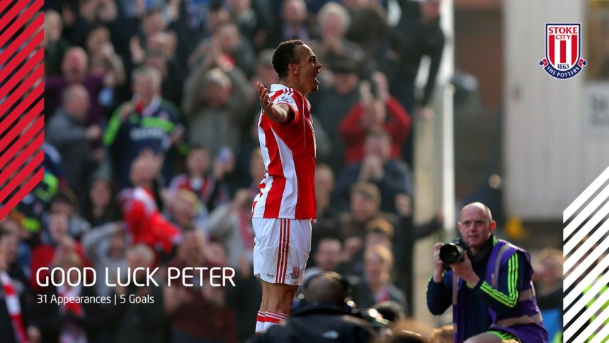 Odemwingie celebrating one of his goals for the Potters. PHOTO CREDIT: Stoke City Twitter