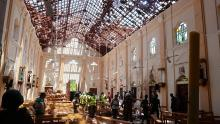 Bomb takes of in Sri Lanka Church. [PHOTO CREDIT: Euronews]