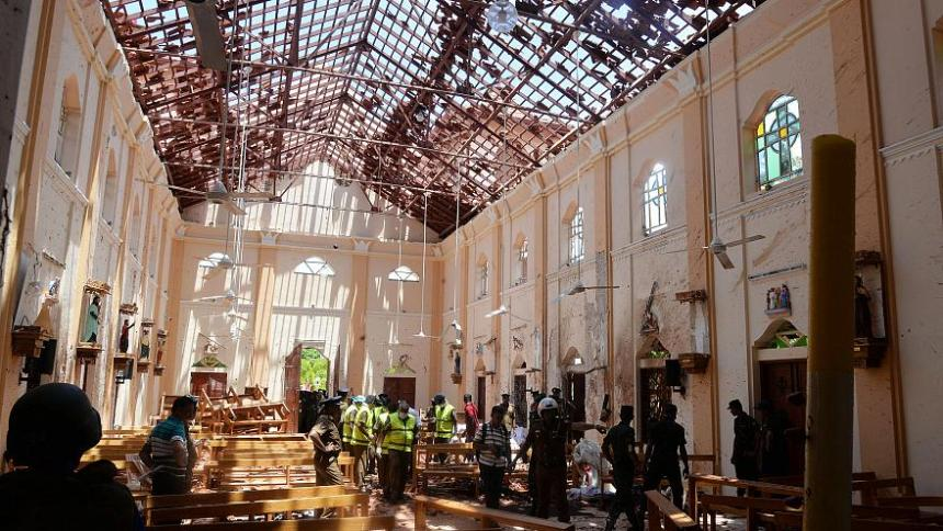 Bomb takes of in Sri Lanka Church. [PHOTO CREDIT: Euronews]