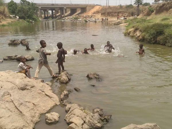 Wupa River at Gosa Kpanyi Kpanyi community in FCT