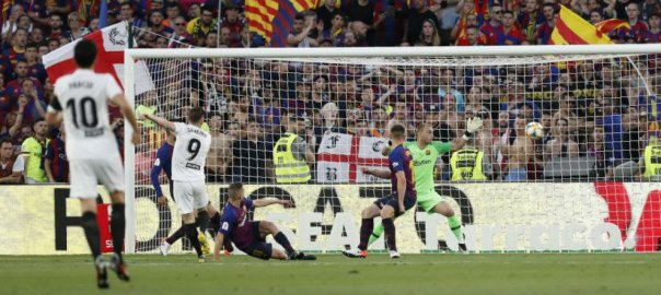 The match between Valencia and Barcelona where Valencia won the Copa Del Rey (Photo Credit: Marca)