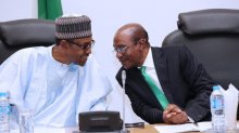President Muhamadu Buhari and Godwin Emefiele