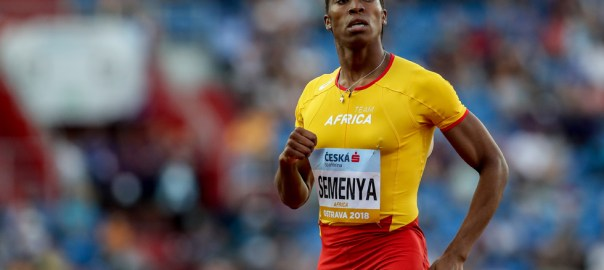 Caster Semenya of South Africa from Team Africa in action during Mixed 4x400m Relay at the IAAF Continental Cup in Ostrava, Czech Republic, 09 September 2018. EPA-EFE/MARTIN DIVISEK