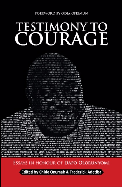 "Cover page of ""Testimony to Courage""."