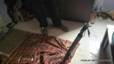 The 'rocket' that landed inside the home of the Aremu's and severed their five-year-old's arm