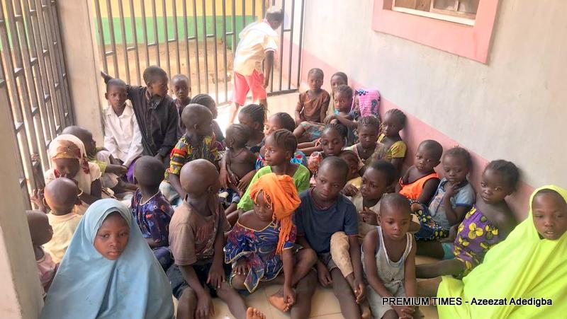 Some of the children that are not in school and dindt follow their parents to farm.