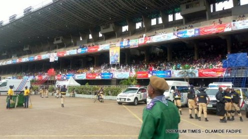 Lagosioans seated for the inauguration of Sanwo-Olu.