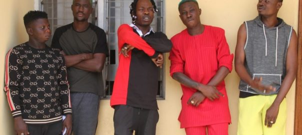 Naira Marley (third from left and Zlatan is fourth from left)