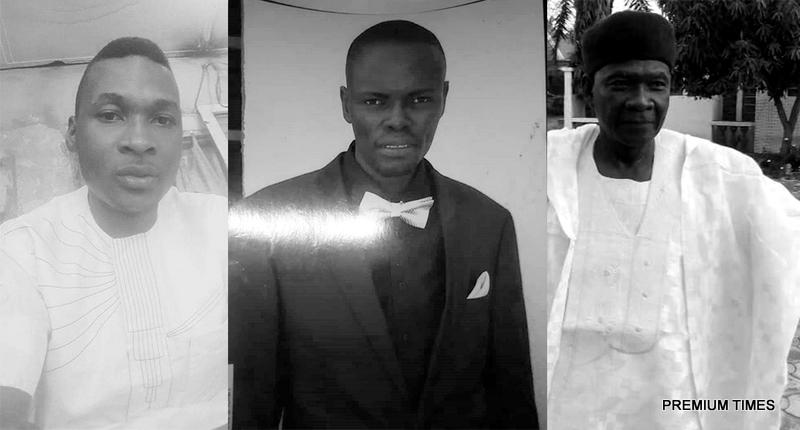 Mr Audu, his son, Iramon Audu, and Samaila Akenjinba