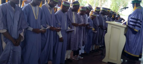 UDUS Matriculating students