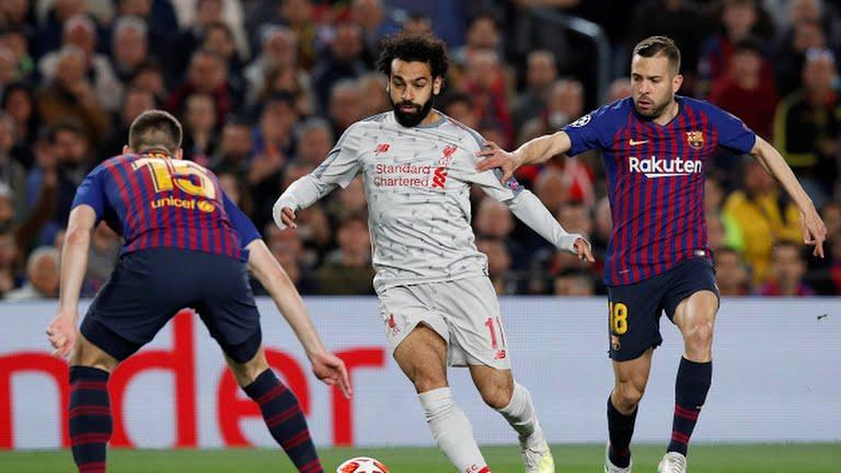 Mohamed Salah in action