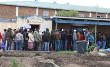 The voting booth in the Lwandle community hall in Strand could not be used because people who have lost their homes are sleeping there. Instead people had to vote at this pre-primary school. (Photo: Velani Ludidi)