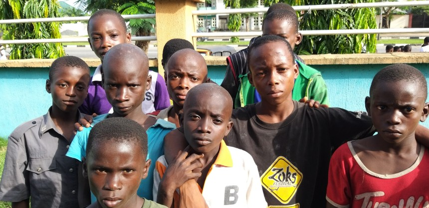 Street children in Uyo, Akwa Ibom Photo by Cletus Ukpong