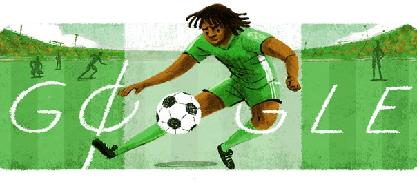 The Google Doodle for Samuel Okwaraji. [PHOTO CREDIT: Google]