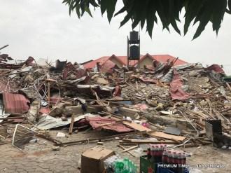 Remains of Caramelo Night Club, Utako, Abuja