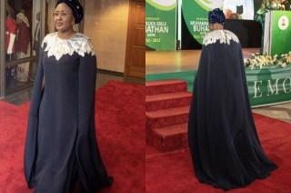 Aisha Buhari Rocked N1.6 million Oscar De Larenta Dress For Democracy Day Dinner