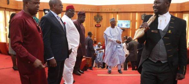 Dr. Abubakar Bukola Saraki, Senate President and Chairman of Nigeria's 8th National Assembly. [PHOTO CREDIT: @bukolasaraki]