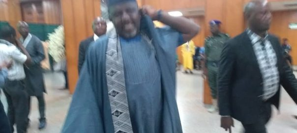 Okorocha all smiles at National Assembly lobby