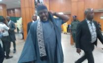 Former Imo State Governor, Rochas Okorocha at National Assembly lobby