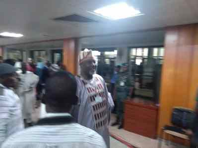 Dino Melaye arrives Senate, proceeds to chamber