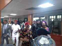Enyinnaya Abaribe, a staunch critic of President Muhammadu Buhari, arrives