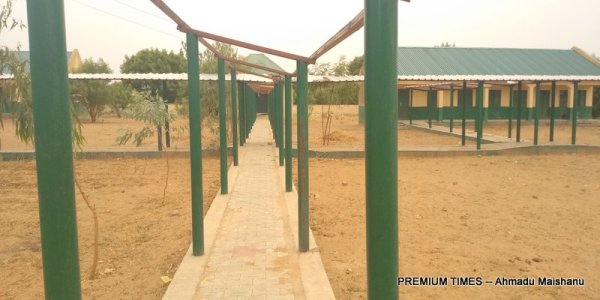 Walkway for the blind students inside the school premises