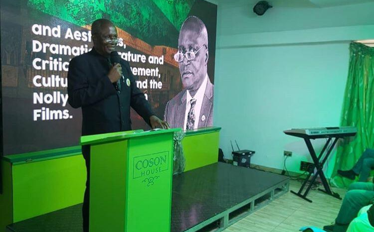 Prof Duro Oni delivering his lecture at the Ras Kimono Memorial lecture in Lagos on Monday