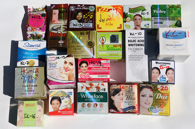 A collection of skin lightening creams used to illustrate the story [Photo: developmentpk.wordpress.com]