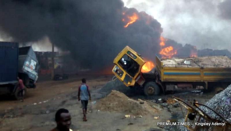 Two dead in Ijegun, Lagos pipeline explosion - Premium Times