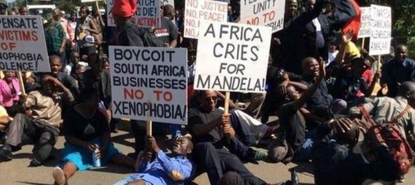 Anti-Xenophobia protesters [Photo: The Guardian Nigeria]