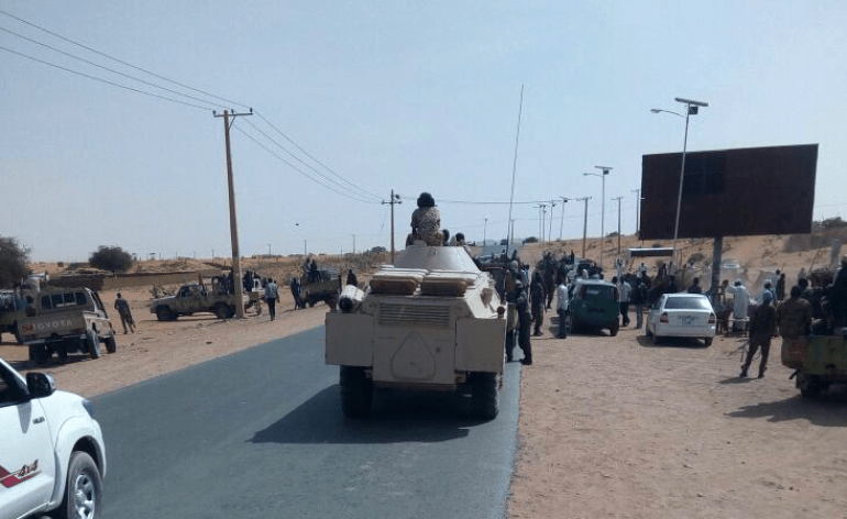 Armoured car supports troops in Sudan
