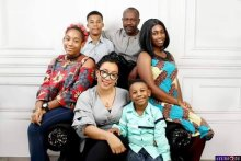 Family photo showing the late Colonel Ken Elemele with his wife and children Photo credit_Rivers govt