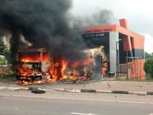 One of the outpost belonging to NEMA set ablaze by Shiite members