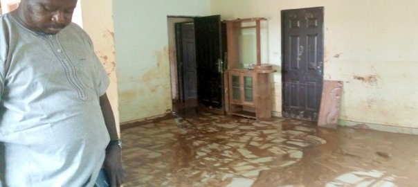 One of the houses in Lokogoma affected by the flood