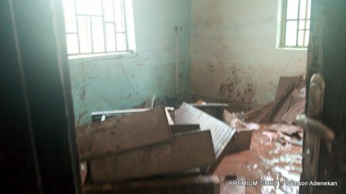 Properties damaged by flood in Lokogoma