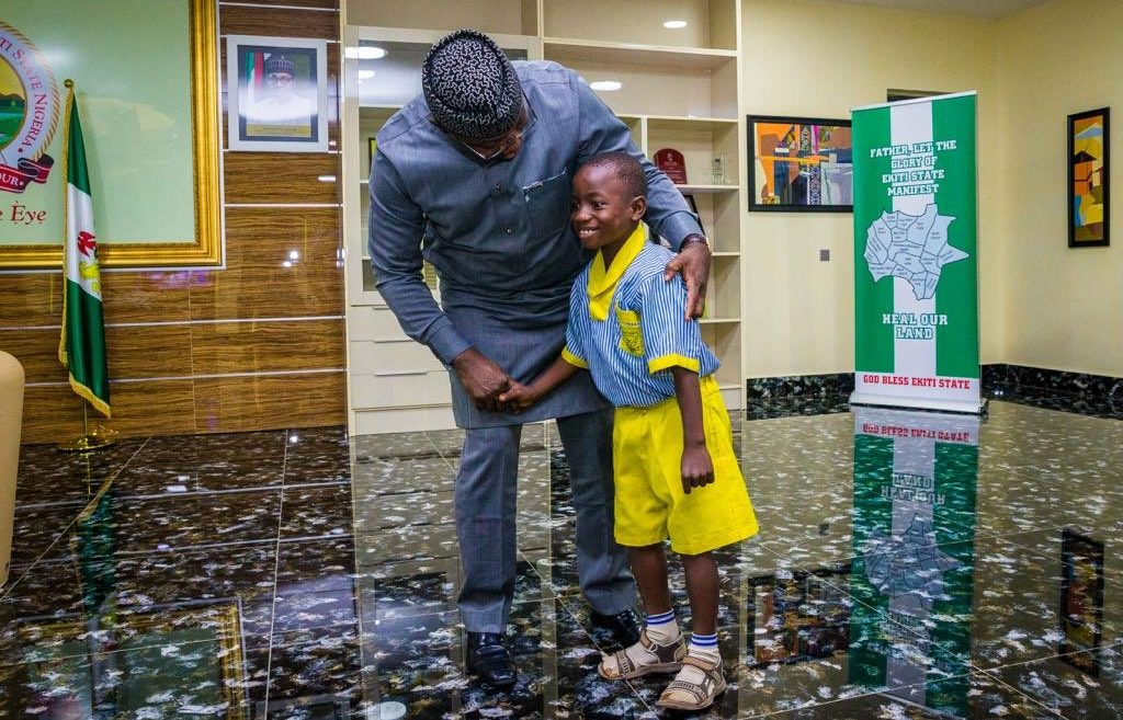 Fayemi makes seven-year-old Ekiti 'governor' for a day - Premium Times