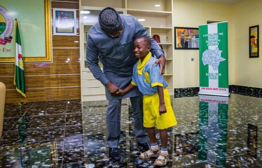 Daniel Olutope, from St. Michael's African Primary School, Ado-Ekiti