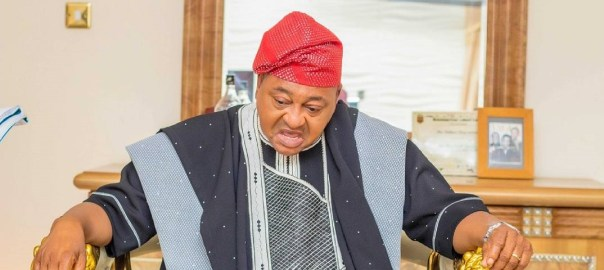 Jide Kosoko on set the movie