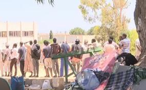 The scene near the detention centre in Tripoli. [PHOTO CREDIT: AllAfrica]
