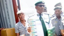 Customs officials intercepted Tramadol in an Ambulance
