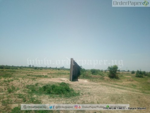 Picture of the fenced land in Kano,