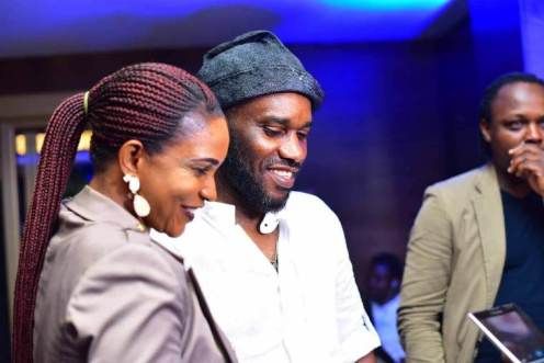 Ann, with another Nigerian footballer, Austin Jay Jay Okocha