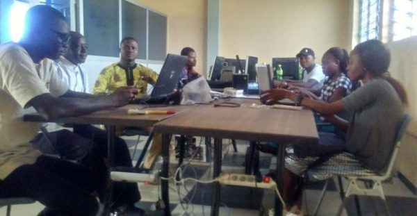 BeninWebTV's newsroom.