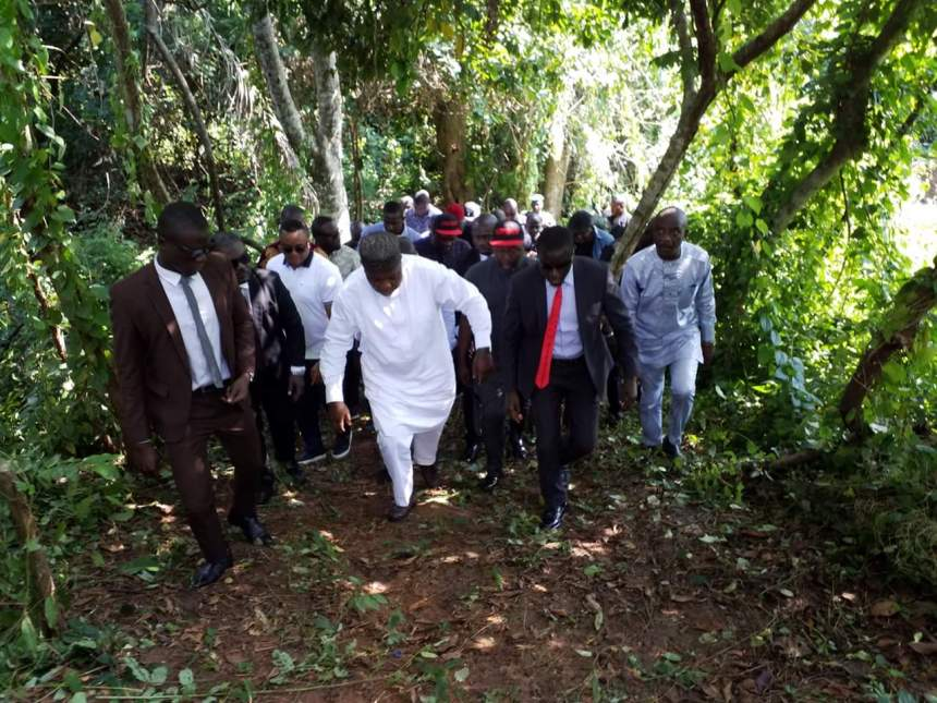Enugu State Governor, Ifeanyi Ugwuanyi at the Agwu Forest