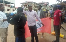 The protest was disrupted by the Police in Ondo