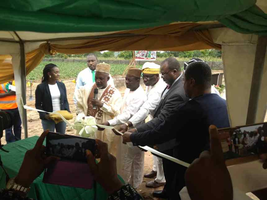 Tanko Sununu, chairman house committee on health services; Francis Faduyile, NMA president among other special guests while launching the MDCAN ground breaking building project in Abuja.