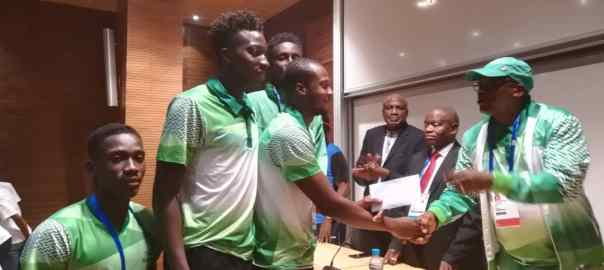 Team Nigeria athletes being rewarded by FG in Morocco