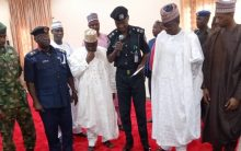 Bandits surrendered weapons, military uniform