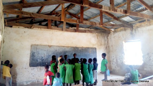 Inside classroom occupied by Primary Two and Three